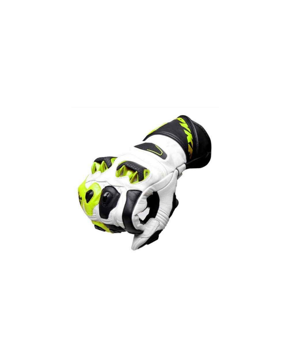 Guante racing moto spyke tech race amarillo fluor