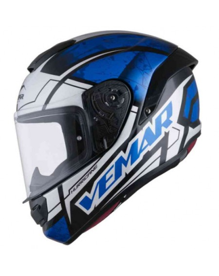 Casco integralen oferta VEMAR HURRICANE CLAW Azul en Madrid