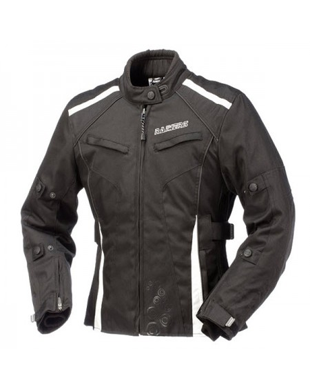 Chaqueta cordura de moto para invierno RAINERS SELENA Negro Blanco