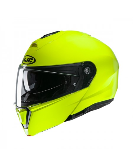 HJC i90 amarillo fluor, casco modular en oferta
