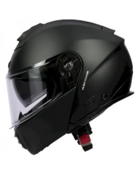 casco moto integral axo negro fluor