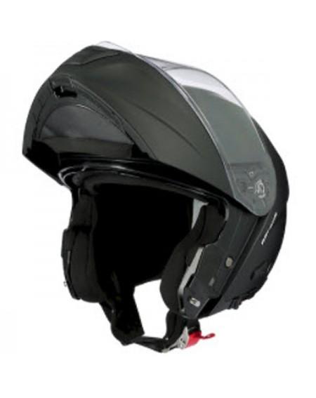 casco moto integral axo negro rojo