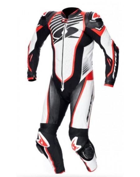 Mono 1 pieza profesional spyke aragon race negro blanco rojo
