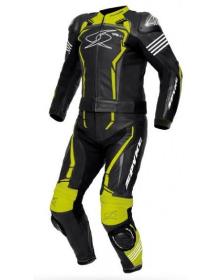Mono 2 piezas spyke assen sport negro amarillo fluor